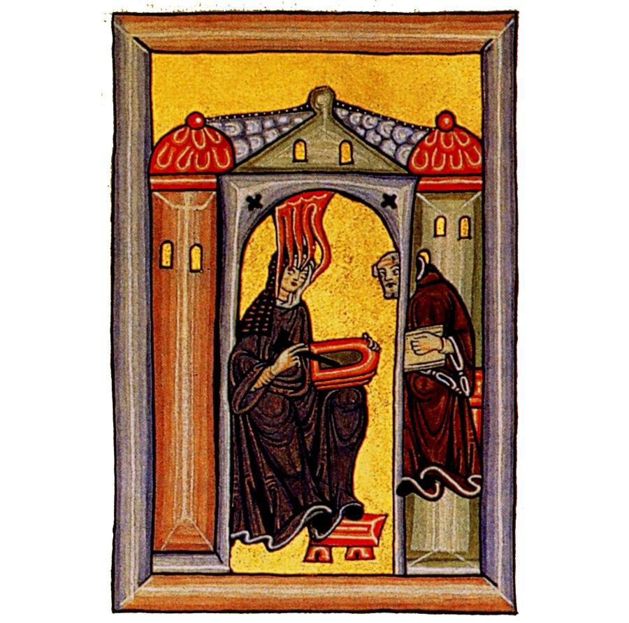 Hildegard von Bingen and confessor Volmar